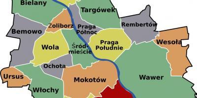 Warszawa Kort Kort Warszawa Masovien Polen